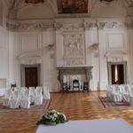 Velký sál na zámku Lnáře